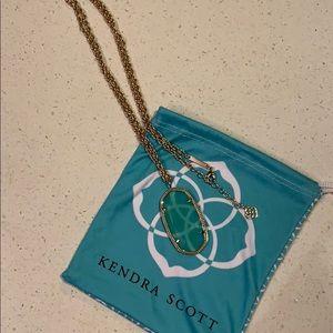 Kendra Scott Reid Gold Long Pendant Necklace